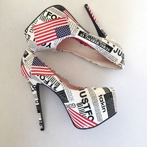 Alba | Stiletto American Flag Unique Heels 11